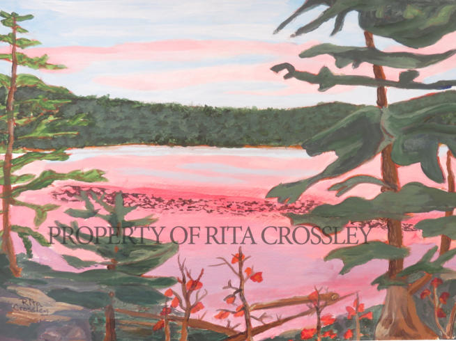 sunset lake - by Rita Crossley